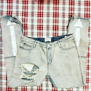 Severally Distressed  Stonewashed Jean's